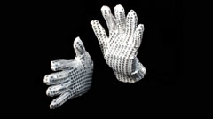 Magic hands gloves sparkle show entertainer magician Stock Footage
