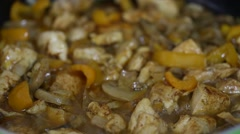 Close up of meat stew with vegetables Stock Footage