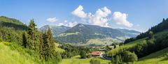 French alps panorama Stock Photos