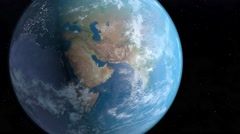 Animation of planet Earth - stock footage