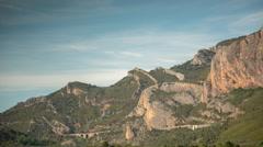 Murillo de Gállego cliffs mountains nature Stock Footage
