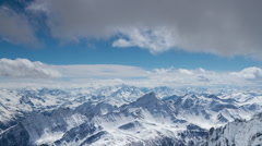 Saas fee alps  switzerland mountains snow peaks ski Stock Footage
