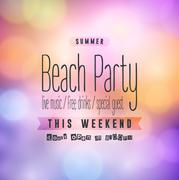 Summer Beach Party Flyer Piirros