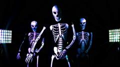 glow uv neon halloween skeleton bones costume dead - stock footage