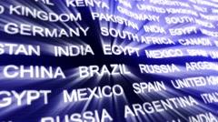WORLD STATES Keywords on Carpet, Background, Loop, 4k - stock footage
