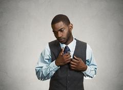 Shy, socially awkward business man Stock Photos