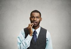 Man with toothache Stock Photos