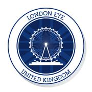 London eye. United kingdom. vector graphic Stock Illustration