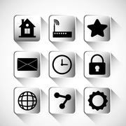 Multimedia icon set. Internet of things design. vector graphic Stock Illustration