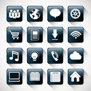 Multimedia icon set. Internet of things design. vector graphic - stock illustration