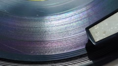 Music vinyl spinning on electrophone Stock Footage