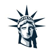 Statue of liberty icon Stock Illustration