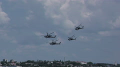 Russian military helicopter Mi-28N 4K figura - stock footage