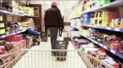 Shopping Cart Ride Time Lapse In Grocery Store - stock footage