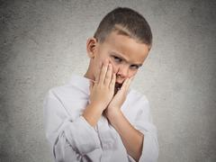 Sad Depressed Tired Child - stock photo