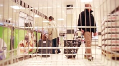 Shopping Cart Ride In Grocery Store Time Lapse - stock footage