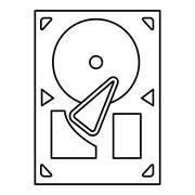 Black line gramophone icon Piirros