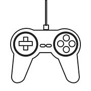 Game controller icon Stock Illustration