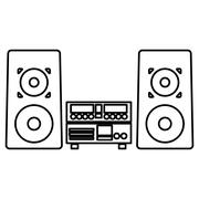 Stereo system icon Stock Illustration