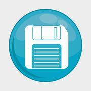 diskette button icon. Social media design. vector graphic - stock illustration