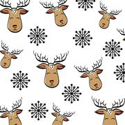 Deer cartoon icon. Merry Christmas. vector graphic Stock Illustration
