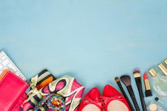 Styled feminine desktop Stock Photos