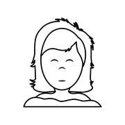 Girl sleeping icon. resting and sleep design. Vector graphic - stock illustration