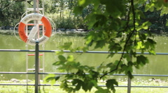 Nature Lake in Malmo Stad  Stock Footage