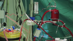 Blood transfusion in hospital Stock Footage