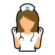 Nurse icon. Medical and Health care design. Vector graphic - stock illustration
