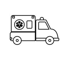 Ambulance icon. Medical and Health care design. Vector graphic Stock Illustration
