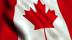 Canada flag loop video animation - 4K Stock Footage