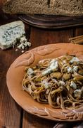 Wholemeal pasta with oyster - stock photo