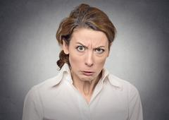 Portrait angry woman Stock Photos