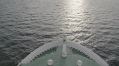A large yacht heading out to stormy sea - stock footage