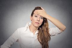question headache doubt - stock photo