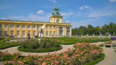 Garden and Old Royal Palace Stock Footage
