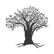 Olive tree icon. Organic and Healthy food design. Vector graphic - stock illustration
