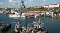 Seaport in Sevastopol, Crimea - stock footage