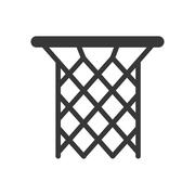 Basket icon. Basketball design. Vector graphic Stock Illustration