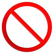 Not Allowed Sign Blank - stock illustration