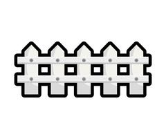 Fence icon. Barrier design. Vector graphic - stock illustration