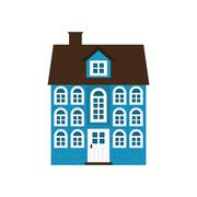 House icon. Family home design. Vector graphic - stock illustration