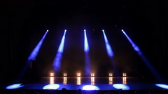 Stage Lights. Blue. Bright Stage Lights Flashing Stock Footage