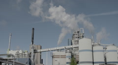 Smoke coming from a swedish pulp factory Stock Footage
