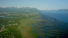 Anchorage Alaska Aerial - stock footage