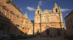 ST. PAUL'S CATHEDRAL MDINA MALTA Stock Footage
