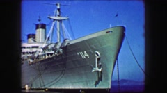 1944: USS General William Mitchell (AP-114) troopship United States Navy. Stock Footage
