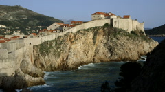 BOKAR FORTRESS ADRIATIC SEA OLD TOWN DUBROVNIK - stock footage