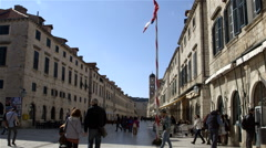 PLACA STRADUN STREET SCENE OLD TOWN DUBROVNIK Stock Footage